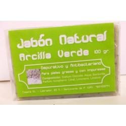 Jabón Natural de Árcilla Verde