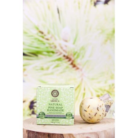 Jabón natural artesanal de pino, nutrición y protección