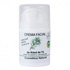 Crema Facial de Árbol de Té (pieles acneicas)
