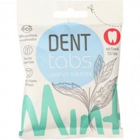 Pastillas de dentífrico sólido con fluor Dent tabs 125 unidades
