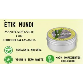 ETIK MUNDI -KARITÉ CON CITRONELA Y LAVANDA 100